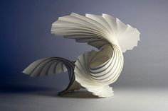 Richard Sweeney, Curved Pleat Shell This sculpture seems to have been made out of one or more pleats, which serves to demonstrate the complexity and technical nature of the sculpture, whilst still retaining its tremendous grace. Art Sculpture, Abstract Sculpture, Paper Sculptures, Folding Architecture, Architecture Journal, Art Abstrait, Art Plastique, Famous Artists, Artist Art