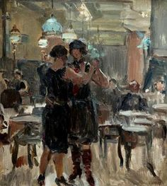 At the Scala Cafe by Isaac Israëls