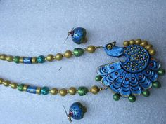 Peacock type Terracotta Jewellery