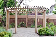 The wooden pergola is a good solution to add beauty to your garden. If you are not ready to spend thousands of dollars for building a cozy pergola then you may devise new strategies of trying out something different so that you can re Diy Pergola, Gazebo, Pergola Carport, Pergola With Roof, Wooden Pergola, Outdoor Pergola, Pergola Ideas, Covered Pergola, Carport Ideas