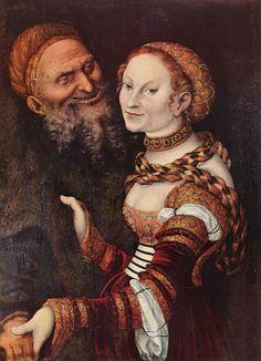 Cranach d. Ä., Lucas: Der verliebte Alte - Gemeinfrei