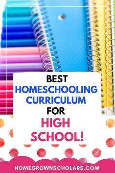 Best Homeschooling Curriculum for High School | Homegrown Scholars