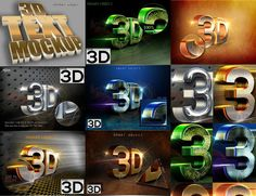 Mock Up 3D Text Style by nayla2012 on Creative Market