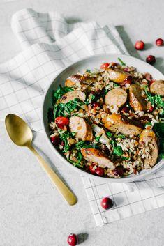 Fresh Cranberry, Wild Rice & Kale Pilaf - #FreshCranFriday