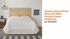 StyleWell Caspian Natural Finish Wood and Water HyacinthTwin Headboard (41.34 in W. X 55.5 in H.)-BD1805459-NAT - The Home Depot Linen Headboard, Queen Size Headboard, Twin Headboard, Seagrass Headboard, King Bedroom Sets, Master Bedroom, Water Hyacinth, Adjustable Beds, Bedding Shop