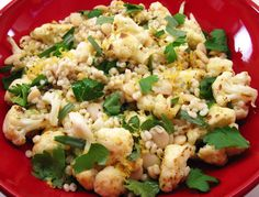 EXCELLENT!!  Cauliflower and Herbed Barley Salad