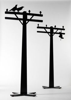Telephone Pole Coat Stands