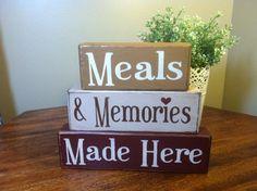 Primitive wood blocks shelf sitters meals and by AppleJackDesign, $25.00