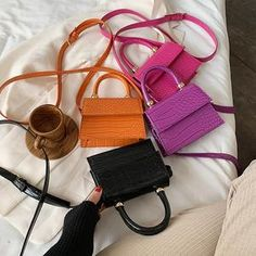 Mini Stone Pattern Totes For Women 2020 – sherazad shop Leather Purses, Pu Leather, Tote Pattern, Fashion Colours, Casual, Belt, Handbags, Stone, Lady