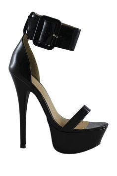Luxy Ankle Strap Sandal by LILIANA #shoes #heels #black