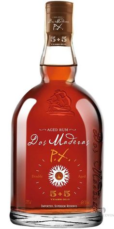 "Dos Maderas P.X. 5+5 Year Old Rum; Dos Maderas a rum called ""Two Woods"" in Spanish 