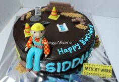 Bob the builder cake - for a civil engineer  Cake by Meenakshi