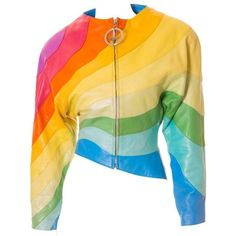 f7bcfffd590d Preowned S s 1990 Thierry Mugler Rainbow Leather Jacket ( 11