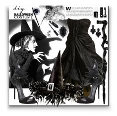 """Witch"" by marionmeyer ❤ liked on Polyvore featuring Alexander McQueen, Giuseppe Zanotti, NOVICA, Maybelline, Bobbi Brown Cosmetics, Tasha, Dsquared2, Marc Jacobs, Essie and halloweencostume"