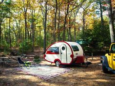 The RV movement is on the rise and companies like Little Guy Teardrop Camer/Trailer are providing vacationers with an array of stylish models to choose from such as this compact  T@B Teardrop camper .