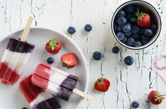 Double Berry + Coconut Pops {No Added Sugar}