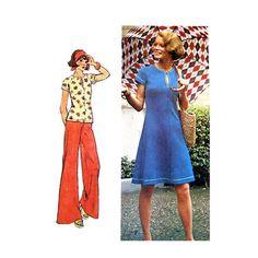 Vintage Keyhole Dress Top & Pants Pattern by finickypatternshop, $8.95