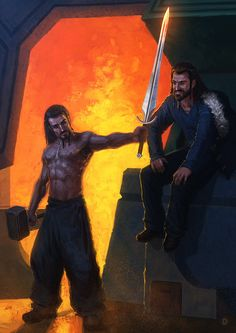 Thorin and Frerin by ~Deelane