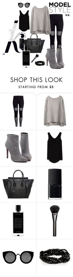 """""""Monochromatic"""" by spiffykerms on Polyvore featuring KAROLINA, Zara, NARS Cosmetics, Agonist, Gucci, Quay and Waterford"""