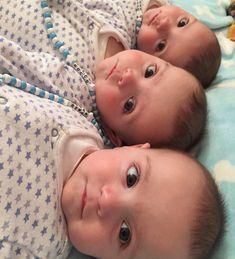Cute Kids, Cute Babies, Triplets, Triplet Babies, Montessori, Instagram, Inspiration, Sons, Board