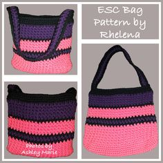 ESC Bag or Purse - FREE Crochet Pattern: http://crochetncrafts.com/esc-bag-or-purse/