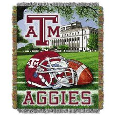 Northwest Co. NCAA Texas A&M Tapestry Throw Blanket