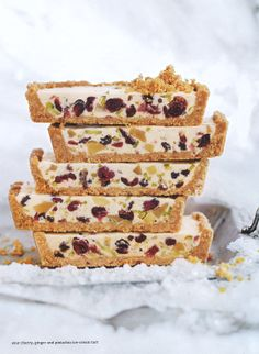 sour cherry, ginger and pistachio tarts - maybe next year