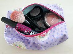 Trousse da borsa in cotone con zip/Pochette/Makeup di ValeDecoHandmade su Etsy