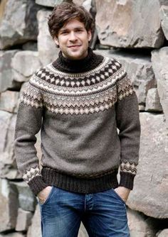 Men's Sweaters, Sewing Crafts, Streetwear, Turtle Neck, Colour, Wool, Knitting, Iceland, Inspired