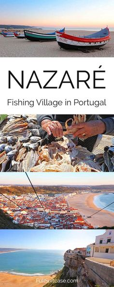 Nazare fishing village is not to be missed when traveling to Central Portugal #portugal