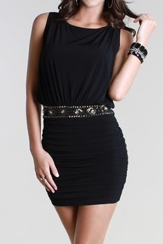 Sequin Belted Grecian Party Dress - KocoSky