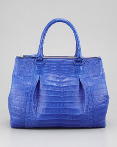 db7008eec1e66 Executive Double-Zip Crocodile Tote Bag