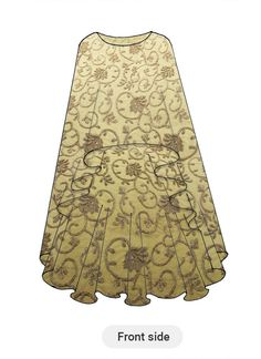 Buy Beige N Gold Net Cape online, SKU Code: IWBS1711779. This Beige color Party dresses and gown for Women comes with Embroidered Net. Shop Now!