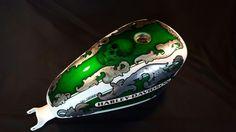Aerografia Serbatoio custom airbrush tank harley davidson candy color design Skull