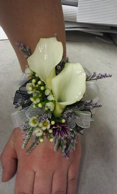 Image result for calla lily wrist corsages wedding