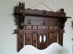 Вешалка под старину - вешалка деревянная, вешалка в баню, вешалка под старину