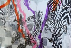 'Zebras' Original work in mixed media size A3.  Go like syster henry, and W I N or order a poster! (limited  edition!) https://www.facebook.com/photo.php?fbid=565210740183118&set=a.416566068380920.81011.243483939022468&type=1&theater