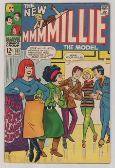 Millie the Model V1 161.  VF.  August 1968.  by RubbersuitStudios #milliethemodel #comicbooks #stanlee