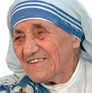 ...teach the world to share and love.  Mother Theresa was incredible!