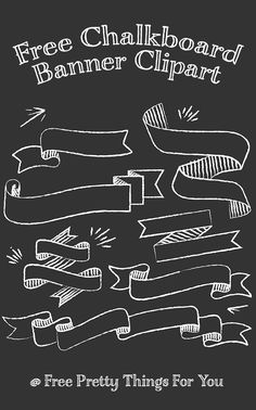 Free chalkboard banner clipart: some fun chalkboard banner clip art for you Chalkboard Template, Chalkboard Clipart, Chalkboard Doodles, Chalkboard Banner, Chalkboard Lettering, Chalkboard Poster, Chalkboard Designs, Birthday Chalkboard, Chalkboard Drawings
