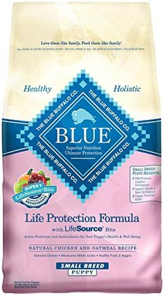 Blue Buffalo Dry Dog Food for Small Breed Puppies Chicken and Oatmeal Recipe 6Pound Bag * Click image for more details.