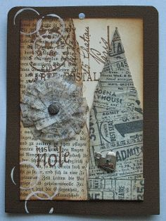 sarah 39 s distressed christmas tag uses tim holtz artful dwelling die sizzix snowflake embossing. Black Bedroom Furniture Sets. Home Design Ideas