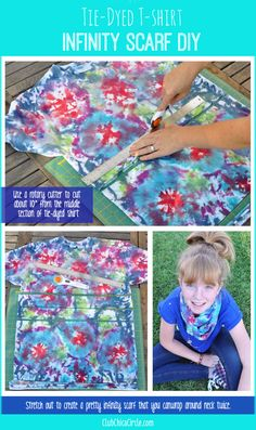 Tween Tie-Dye T-shirt Infinity Scarf via Club Chica Circle