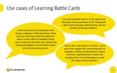 Gamification Of Learning Design: How To Use Learning Battle Cards?