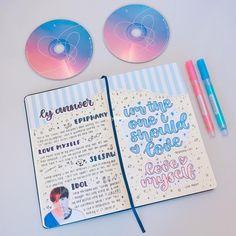 ~♡~ THATS SO PRETTY Bullet Journal 101, Bullet Journal Inspiration, Journal Ideas, Bts Book, K Pop, Bullet Art, Notebook Art, Bujo, Journal Design