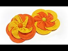 ▶ Flor FACIL de fieltro. Felt flower. - YouTube