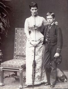 HRH The Princess of Wales (later HM Queen Alexandra) and HRH Prince George of Wales (later HM King George V)