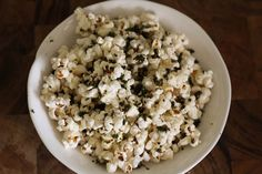 Spicy Kale-Dusted Popcorn
