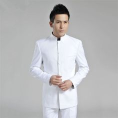 White Chinese Suit