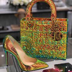 Dior x Louboutin Fashion Bags, Fashion Shoes, Fashion Accessories, Lady Dior, Cristian Dior, Cute Bags, Pumps, Heels, Beautiful Shoes